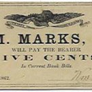 New York, Naples, Wm. Marks, Jr., 5 Cents, September 22, 1862