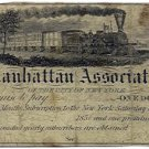 New York, New York, The Manhattan Association, $1, December 13, 1856