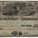 New York, New York, The Manhattan Association, $5, August 1, 1838