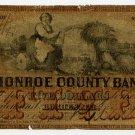 New York, Rochester, Monroe County Bank, $5, April 4, 1861