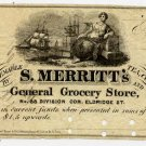 New York, New York, S. Merritt's General Grocery Store, 50 Cents, 186-, (1862-3)