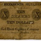 New York, Brooklyn, Red Hook Building Company, $10, January 1, 1838?