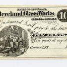 New York, Cleveland, Cleveland Glass Works, 10 Cents, 187-, (1870s)