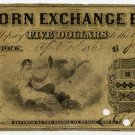 New York, New York, Corn Exchange Bank, $5, April 15, 1862