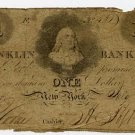 New York, New York, Franklin Bank of the City of New York, $1, July 3, 1826