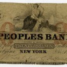 New York, New York, The Peoples Bank, $20, Dec 1, 1857