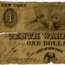 New York, NY, The Tenth Ward Bank, $1, no date (1840s)