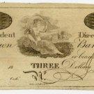 New York, New York, Union Bank, $3, 18B, (1810s)