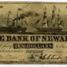 New York, Newark, Bank of Newark, $10, Nov 11, 1852