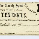 New York, Northville, B.N. Lobdell, 10 Cents, 186-, (1862-63)