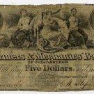 New York, Ogdensburgh, Farmers and Mechanics Bank of Ogdensburgh, $5, Sept 1, 1843