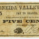 New York, (Onieda), P. Farrell, 5 Cents, November 1, 1862