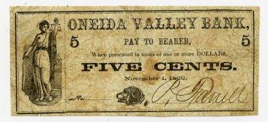 New York, (Onieda), P. Farrell, 5 Cents, November 1, 1862