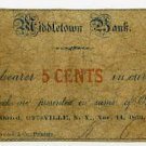 New York, Otisville, A.F. Clark, 5 Cents, Nov 14, 1862