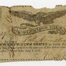 New York, Penn Yan, AC Gillett, 25 Cents, July 4, 1837