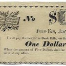 New York, Penn Yan, Rice's Penn Yan Line, $1, January 1, 1838