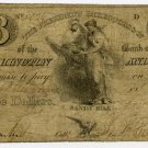 New York, Sandy Hill, Bank of Washington and Warren, $3, Nov 1, 1824
