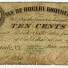 New York, Schenectady, Van De Bogert Brothers, 10 Cents, July 21, 1862