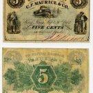 New York, Sing Sing, (now Ossining), JB Noxon, 5 Cents, September 30, 1862