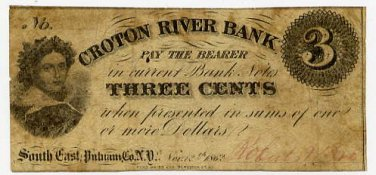 New York, South East (now Brewster), Roberts and Brother, 3 Cents, Nov 12, 1862