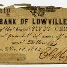 New York, Turin, CC Riggs, 50 Cents, Nov 10, 1862