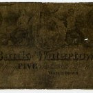 New York, Watertown, Bank of Watertown, $5, 1863?