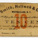 New York, Westmoreland, Smith, Halleck & Co., 10 Cents, November 1, 1862