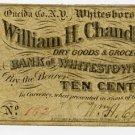 New York, Whitesboro, William H Chandler, 10 Cents, Nov 25, 1862