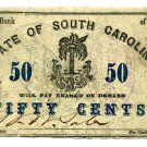 Bank of the State of South Carolina, (Charleston), 50 Cents, June 1, 1861