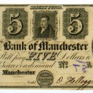 Michigan, Manchester, Bank of Manchester, $5, 18--,(1837)