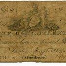 New Jersey, Trenton, State Bank at Trenton, $1, May 5, 1822
