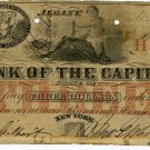 New York, Albany, Bank of the Capitol, $3, May 1, 1854, NY-50-A10