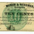 New York, Friendship, M.C. Mulkin, 10 Cents, Dec 1, 1862