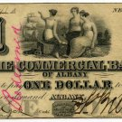 New York, Albany, Commercial Bank of Albany, $1, Oct? 1, 1860, NY-60-G70d