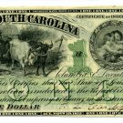 State of South Carolina, Columbia, $1, December 1, 1873