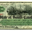 State of South Carolina, Columbia, $2, December 1, 1873
