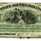 State of South Carolina, Columbia, $10, December 1, 1873
