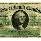 State of South Carolina, Columbia, $50, December 1, 1873