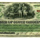 State of South Carolina, Columbia, $5, December 1, 1873