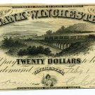 Virginia, Winchester, Bank of Winchester, $20, February 1, 1861