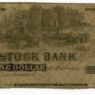 Wisconsin, Eau Claire, State Stock Bank, $1, November 15, 1853