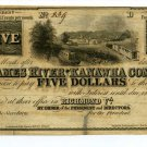Virginia, Richmond, The James River and Kanawha Co., $5, 18--, Unissued