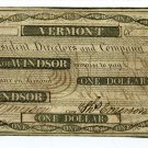 Vermont, Windsor, The Bank of Windsor, $1, January 1, 1838