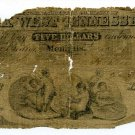 Tennessee, Memphis, Bank of West Tennessee, January 1, 1861?