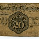 Tennessee, Knoxville, The Bank of East Tennessee, $20, 1861?