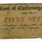 Tennessee, Bank of Chattanooga, 50 Cents, April 2, 1863