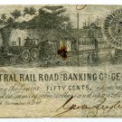 Georgia, Savannah, Central Railroad and Banking Co., 50 Cents, December 19, 1861