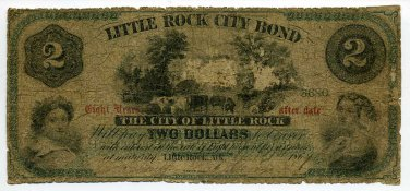 Arkansas, Little Rock City Bond, $2, Sept 1, 1869?