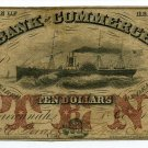 Georgia, Savannah, Bank of Commerce, $10, October 1, 1856