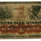 Missouri, Lexington, Farmers Bank of Missouri, $1, Dec 1?, 1861